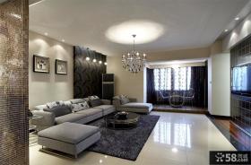 现代家庭室内客厅沙发墙装修效果图
