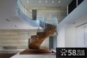 别墅室内阁楼楼梯设计效果图