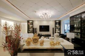 客厅天花石膏板吊顶图片