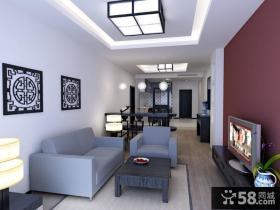 中式客厅吊顶灯具图片