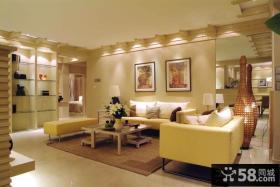 暖色调客厅沙发背景墙装修效果图大全2012图片