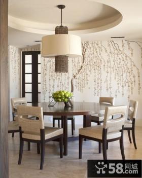 现代风格餐厅壁画效果图