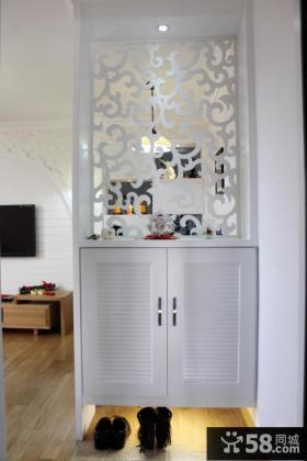 家庭玄关鞋柜隔断设计