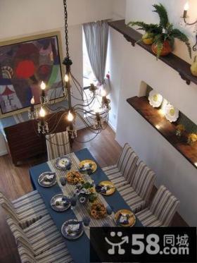 小复式地中海风格客厅装修效果图大全2014图片