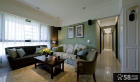 美式公寓客厅创意设计