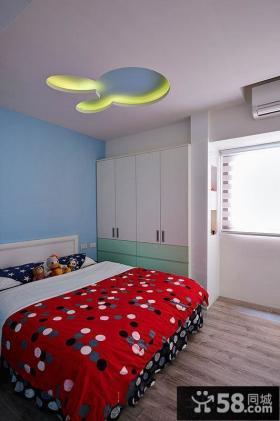 宜家简约儿童房间装修布置图片