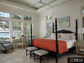 欧式田园风格卧室设计效果图