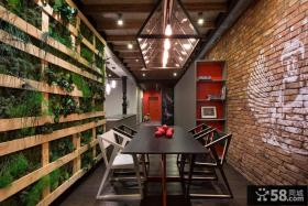 工业风格设计餐厅效果图