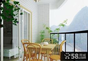 中式现代阳台门套装修效果图