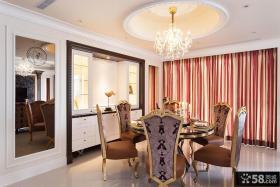 欧式奢华别墅餐厅装饰效果图片