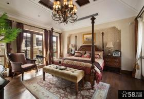 复古欧式别墅室内卧室图片
