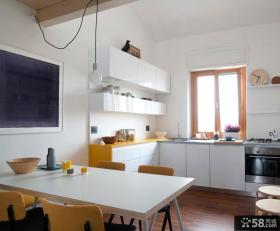 时尚简约风格复式厨房设计