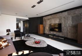 现代石材电视背景墙
