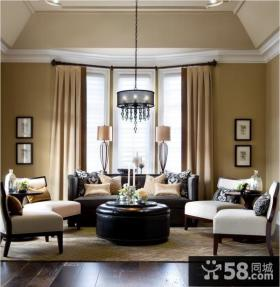 现代美式风格室内装修效果图