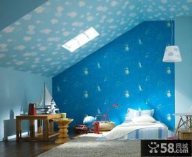 阁楼卧室壁纸效果图片大全
