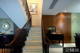 现代中式别墅楼梯装修效果图