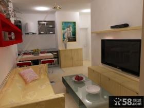 40平米超小户型婚房客厅装修效果图大全2013图片