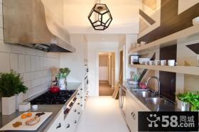 160平复式现代厨房装修效果图大全2012图片