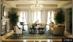 家装欧式客厅吊顶效果图大全2013图片