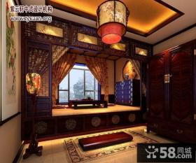 中式复式楼次卧装修效果图