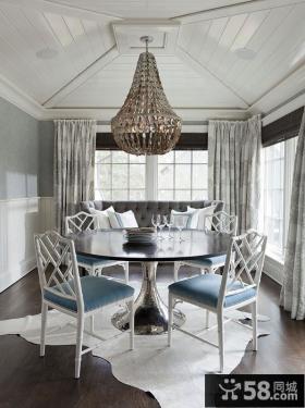 轻盈优雅的复式楼客厅装修效果图大全2012图片
