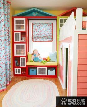 明亮儿童房收纳柜图片