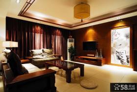 现代中式客厅电视背景墙效果图大全