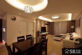 现代室内客厅装修餐厅图
