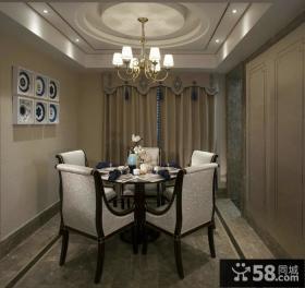 中式设计餐厅吊顶图