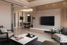 简单装修客厅电视背景墙效果图