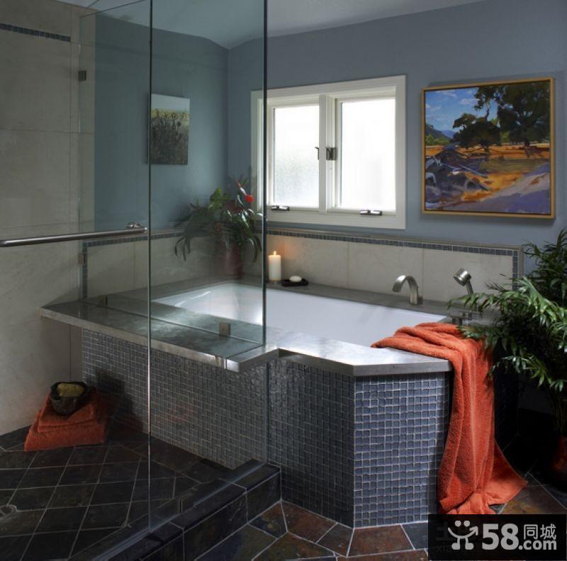 90平米房屋设计图卫生间瓷砖效果图