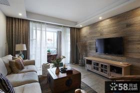 简约中式风格客厅电视背景墙效果图大全