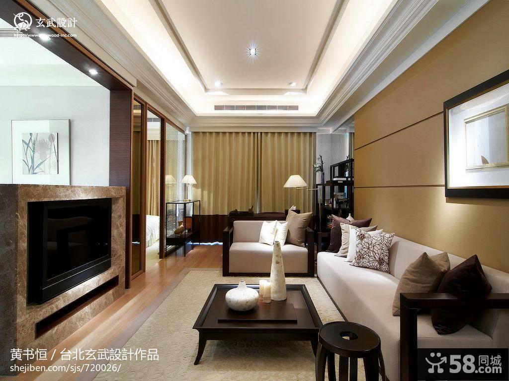 新中式风格客厅吊顶效果图欣赏