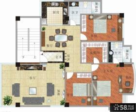 复式楼室内设计平面图