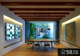 现代设计餐厅吊顶图片欣赏大全