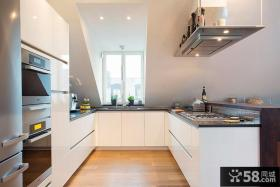 复式楼家庭开放式厨房效果图