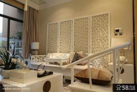 现代中式房屋客厅装修设计图