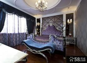 欧式风格主卧室吊顶效果图