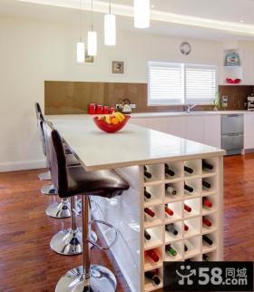 厨房吧台红酒柜图片欣赏