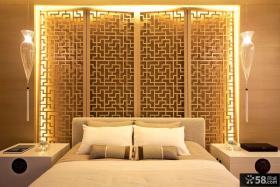 新中式卧室装修效果图片大全2014