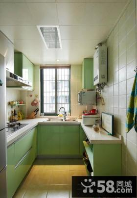 U型小厨房装修效果图欣赏