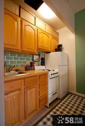 田园风格装修厨房整体橱柜效果图