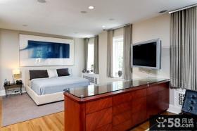 现代主卧室背景墙装修效果图大全