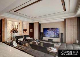 现代家庭设计客厅电视背景墙图片欣赏