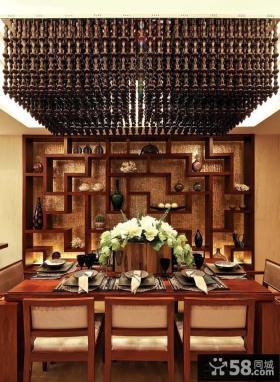 中式古典装修餐厅效果图