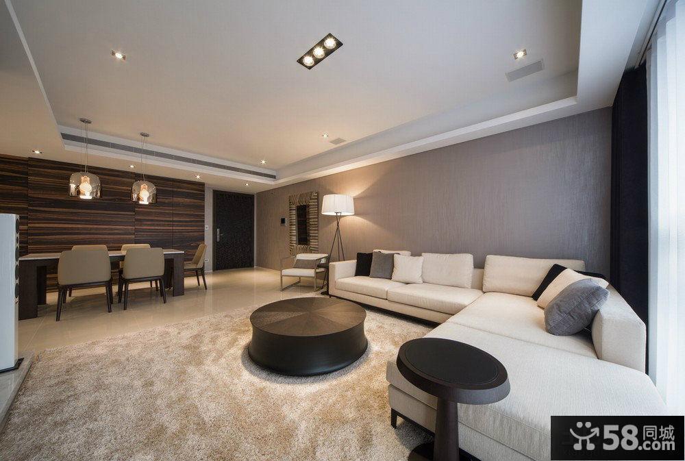 现代简约式客厅装修吊顶设计图片