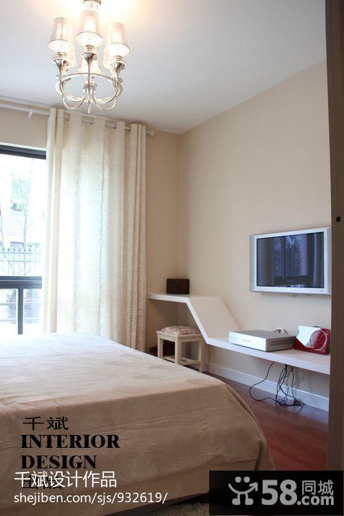 卧室小电视机背景墙图片