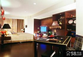 中式现代风格别墅卧室装修图片
