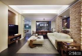 现代美式风格三居室家居设计装修效果图