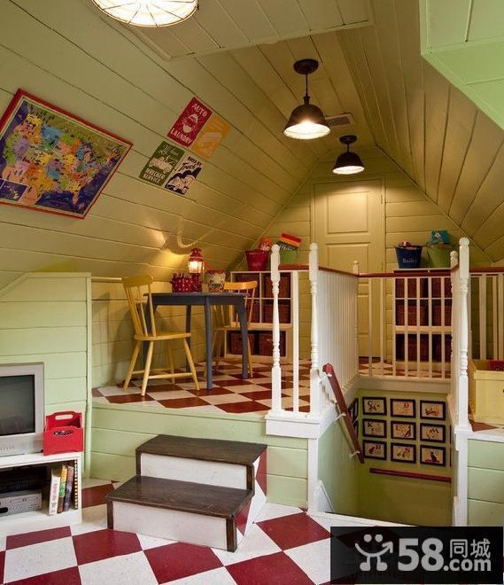 带阁楼的房子创意装修设计效果图